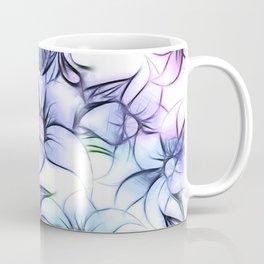 Violet pink teal hand painted sketch elegant floral Coffee Mug