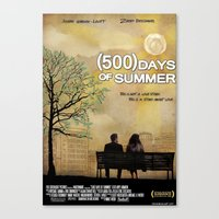 500 days of summer Canvas Prints featuring 500 Days of Summer by Josh Goldman