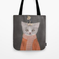cat and mouse Tote Bag