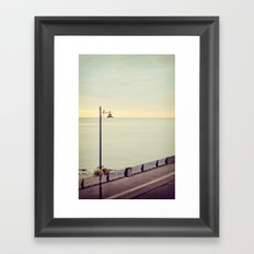 The morning calm Framed Art Print