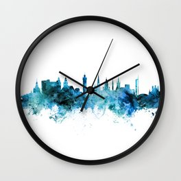 Glasgow Scotland Skyline Wall Clock
