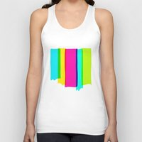 the strokes Tank Tops featuring Brush Strokes by Ulrika Bygge