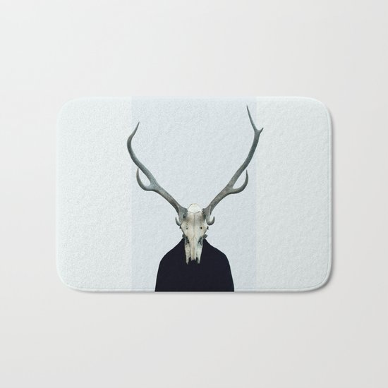 Living Skull and Horns Bath Mat