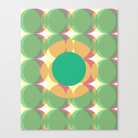 Circle colours  Canvas Print