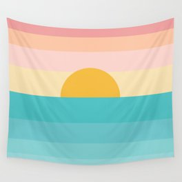 sunrise /sunset Wall Tapestry