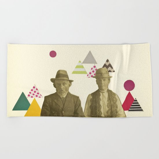 Childhood Sweethearts Beach Towel