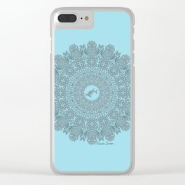 Tribal Hammerhead Shark Mandala Clear iPhone Case