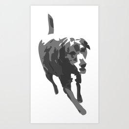 Bodie Girl (the Lab) Art Print