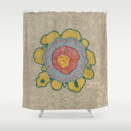 Growing - Pinus 1 - plant cell embroidery Shower Curtain
