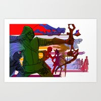 justice league Art Prints featuring The 2015 Justice League of Television by Jorell Rivera