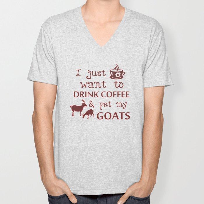 Coffee & Goats Unisex V-Neck