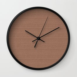 Cafe au Lait Wood Grain Color Accent Wall Clock