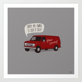 Creeper Van Art Print