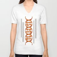 gaming V-neck T-shirts featuring Gaming DNA by Doodle Dojo