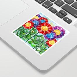 Happiest Flowers Sticker