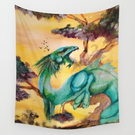 The Green Dragon Wall Tapestry