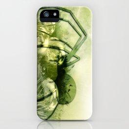 Spider green iPhone Case