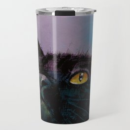 Black Cat Butterfly Travel Mug