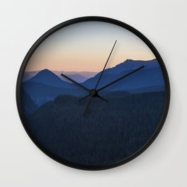 Silhouettes at Sunset Wall Clock
