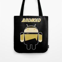 android Tote Bags featuring Android by dextifire