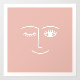 Wink / Pink Art Print