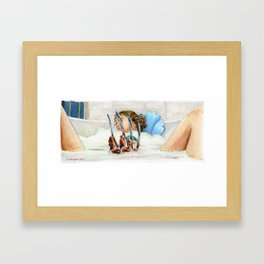 Nightmare on Elm St - You Could Drown You Know  Framed Art Print