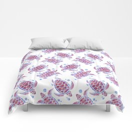 Beautiful Decorative Abstract Turtles Comforters