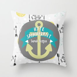 Hate Spinnerbait - Sarah Dessen Throw Pillow