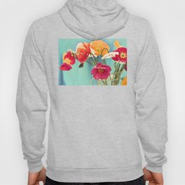 Bright Dancers - Vintage toned poppy flower still life Hoody