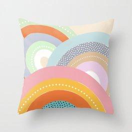 Rainbows and Polka Dots Throw Pillow