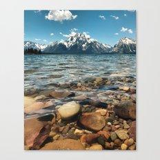 Crystal Clear Jackson Lake in Grand Teton Canvas Print