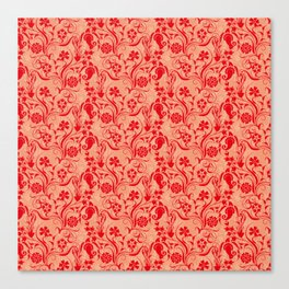 motif red flower 5 Canvas Print