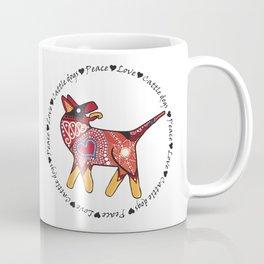 Peace Love and Cattle dogs Coffee Mug