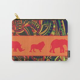 African Tribal Pattern No. 16 Carry-All Pouch