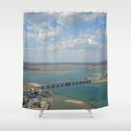 Bridge To Hampton Shower Curtain