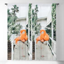 Flamingo Beach House #photography #digitalart Blackout Curtain