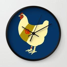 Decorated war chicken Wall Clock