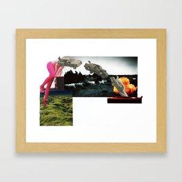 Crash and Burn Framed Art Print