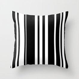 Black and white stripes 5 Throw Pillow