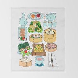 Dim Sum Lunch Throw Blanket