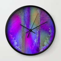 industrial Wall Clocks featuring Industrial Wings by Jennifer Warmuth Art And Design
