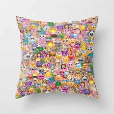 emoji / emoticons Throw Pillow