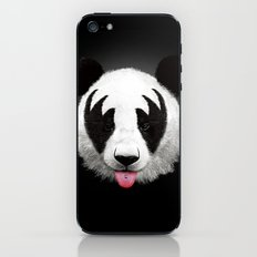 Kiss of a panda iPhone & iPod Skin