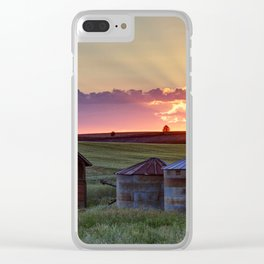 Home Town Sunset Clear iPhone Case