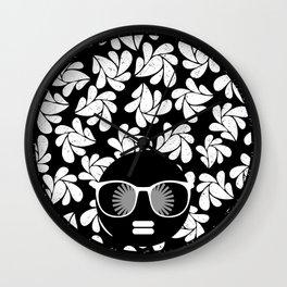 Afro Diva : Black & White Wall Clock