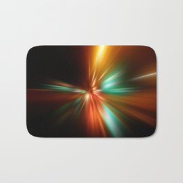abstract acceleration speed motion on night road Bath Mat