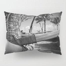 Kuau Palm Trees Hawaiian Outrigger Canoe Paia Maui Hawaii Pillow Sham
