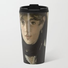 Edouard Manet - Berthe Morisot With A Bouquet Of Violets Travel Mug