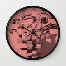 Pink sculpture Wall Clock