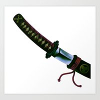 sword Art Prints featuring Japanese Sword by FACTORIE